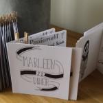 Handlettering menukaarten 21 diner